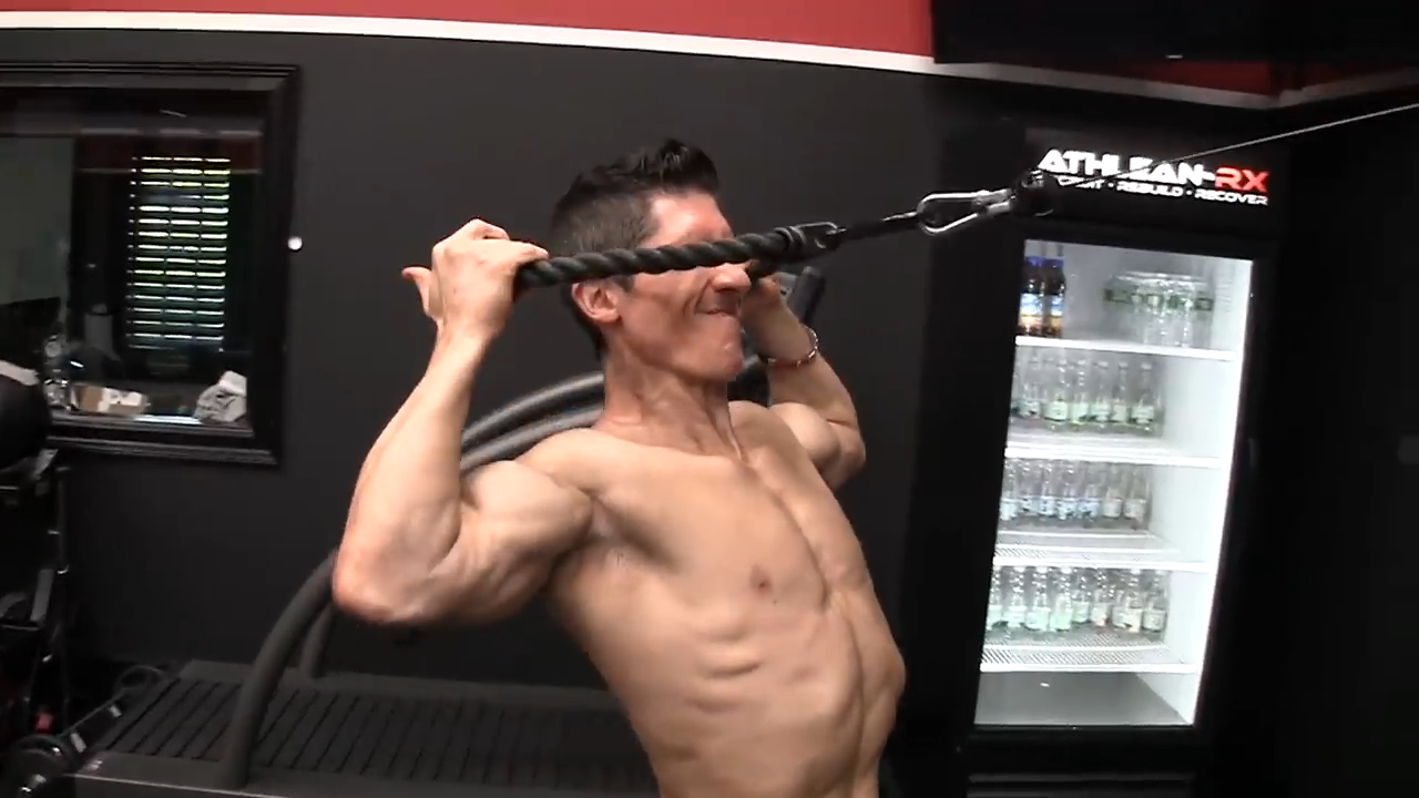 cable face pull shoulder exercise