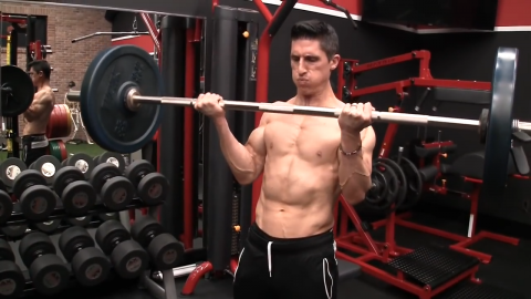 cheat curl biceps exercise