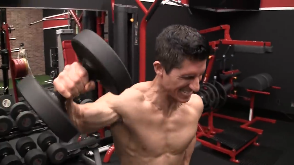 cheat lateral shoulder exercise