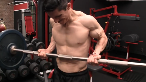 drag curl biceps exercise