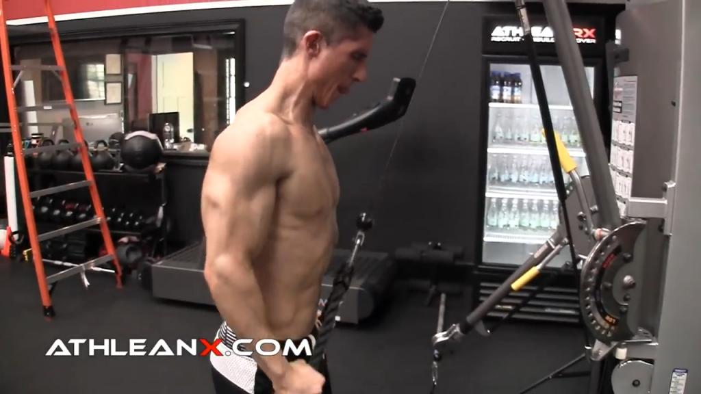 drag pushdown triceps exercise