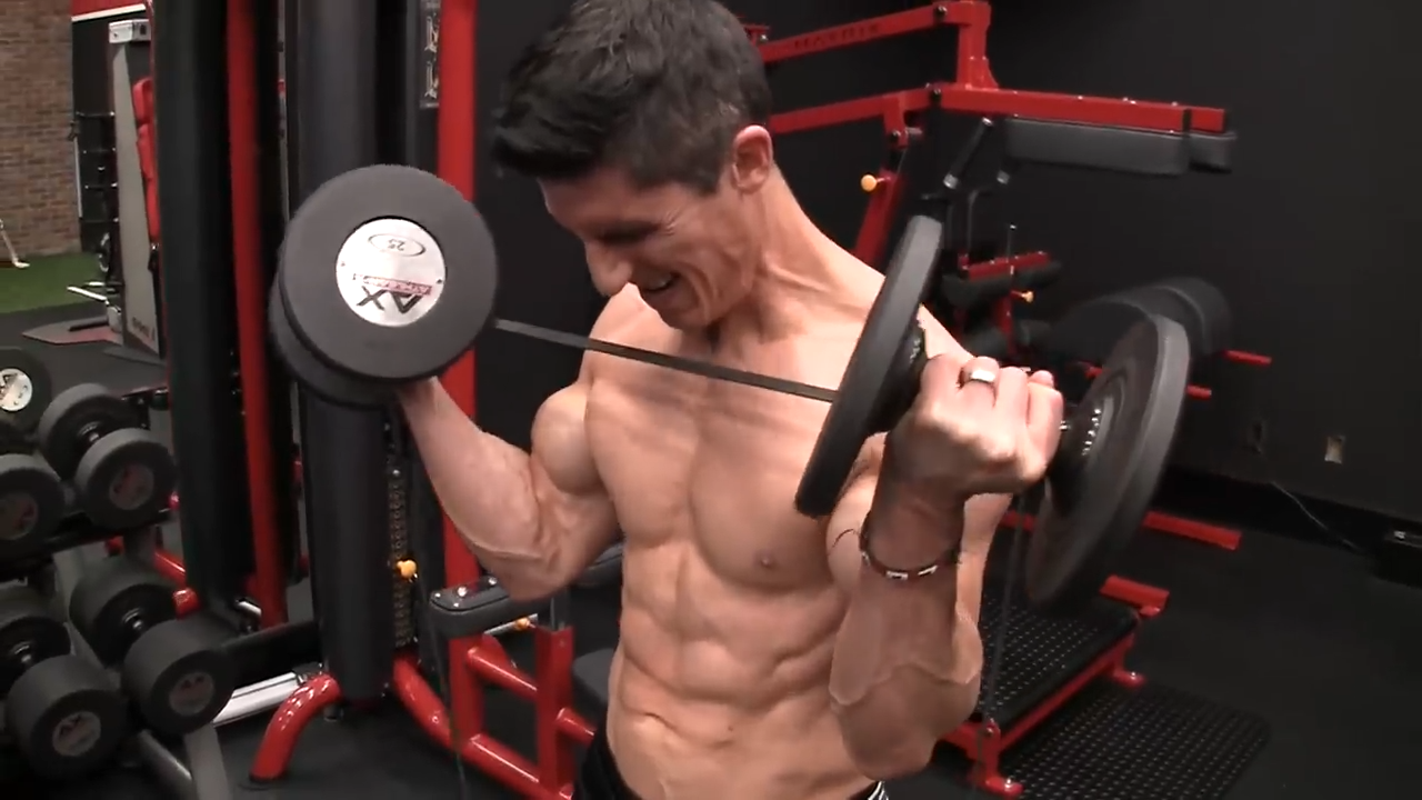 dumbbell curl with resistance band for biceps
