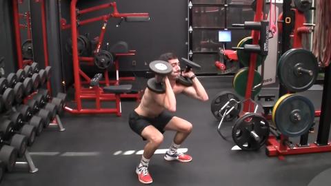 dumbbell squat clean