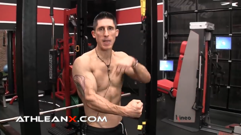 force is maximized on the pulling portion of the triceps pushdown