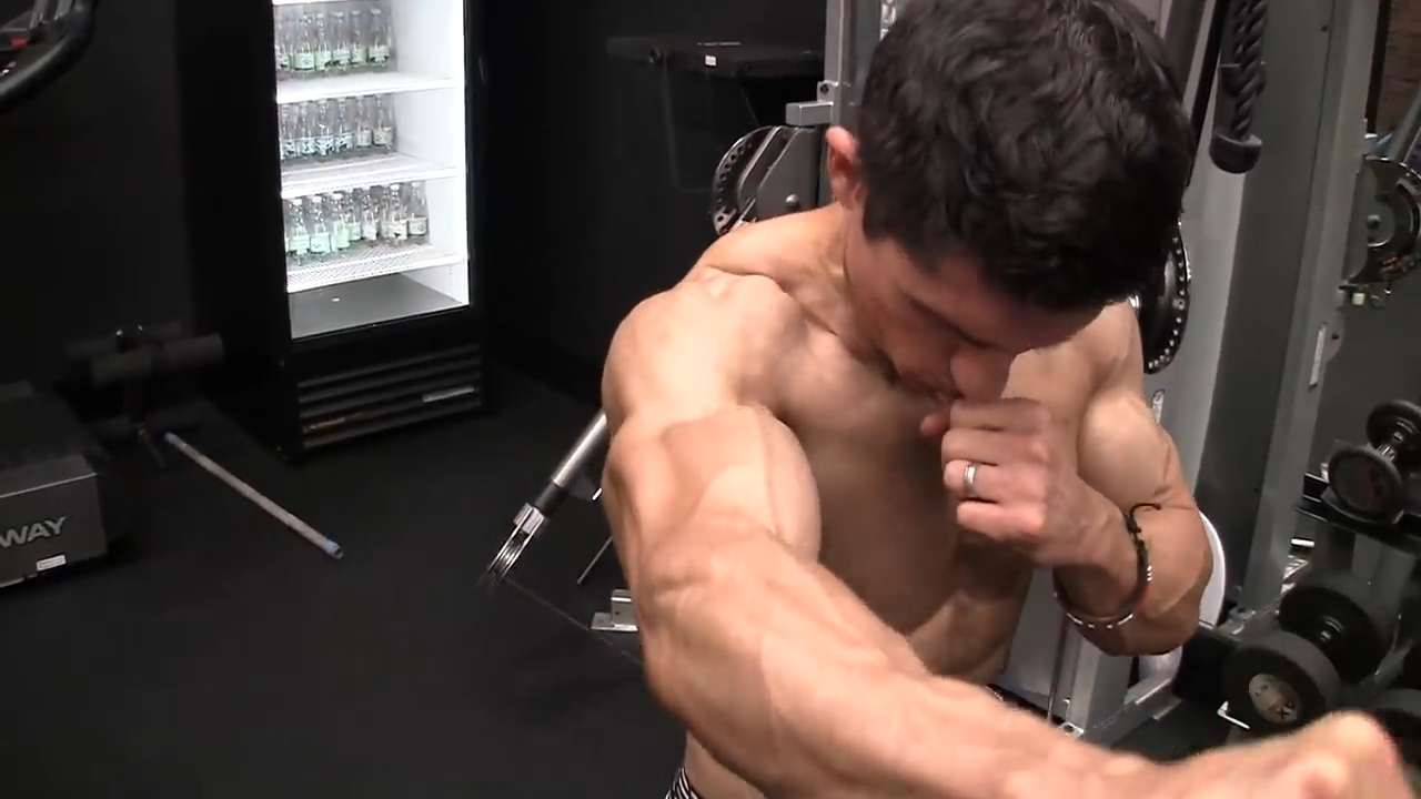 front delt raise positioning of arm and shoulder joint