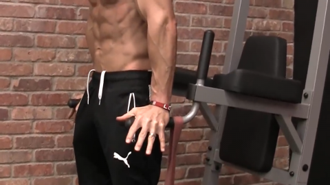 perform a hand release in your triceps dips to minimize forearm involvement