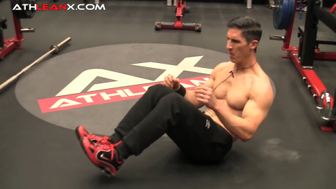 hands free tucks abs exercise
