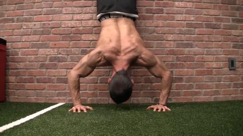 handstand press shoulder exercise