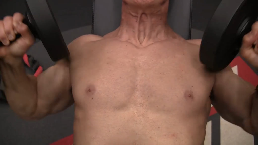 incline bench press chest exercise