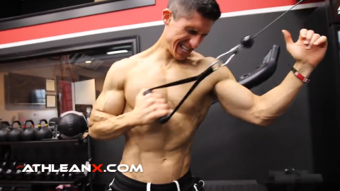 one arm alternating high cable row exercise