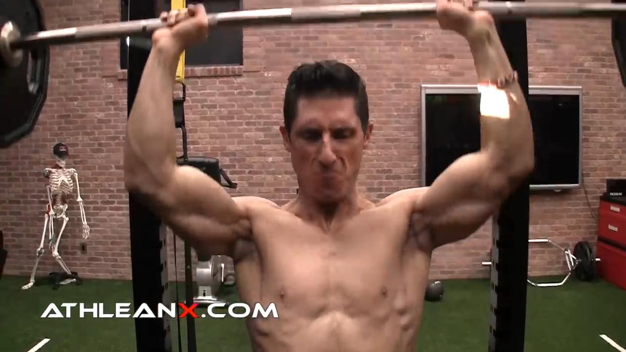 overhead press shoulder exercise for overload