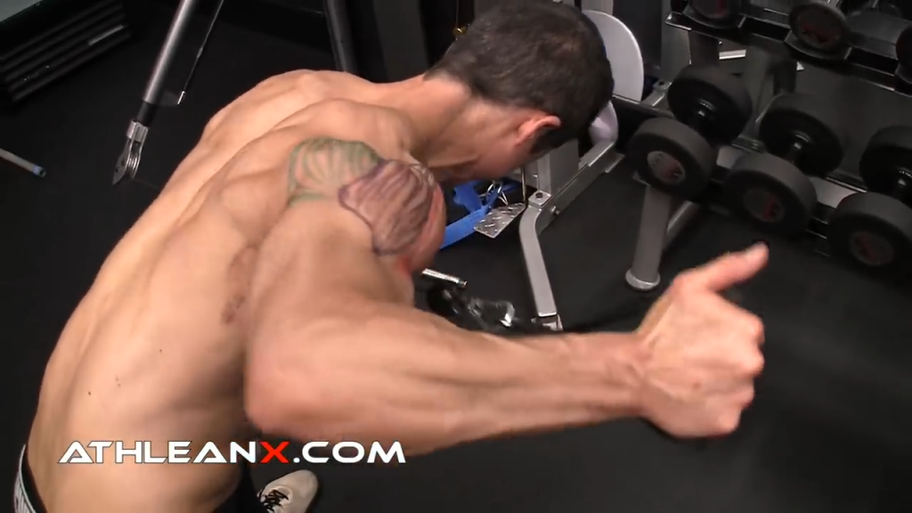 rear lateral raise shoulder exercise