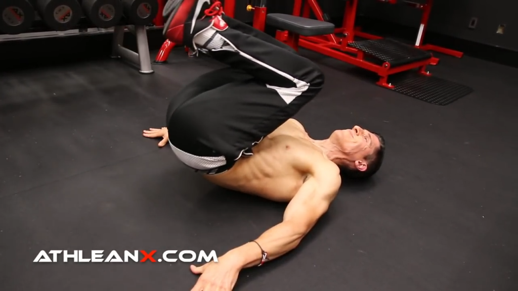reverse iso crunch abs exercise