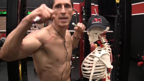 side lateral raise arm and shoulder joint position