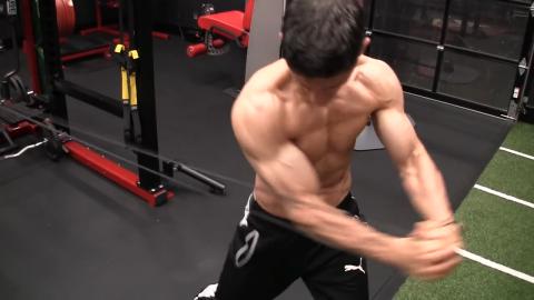 sledgehammer swing abs exercise
