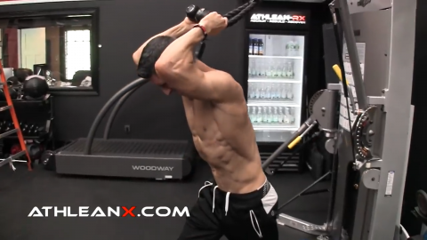 the triceps push away puts the long head on stretch