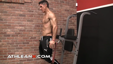maintain an upright torso in dips to hit triceps