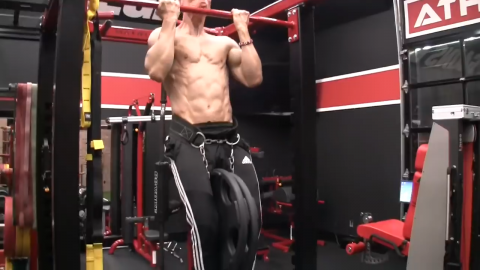 weighted chinup