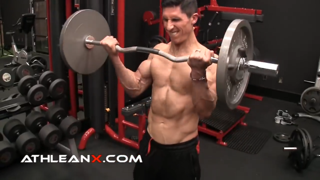 the barbell curl is one of many curling exercises for the biceps