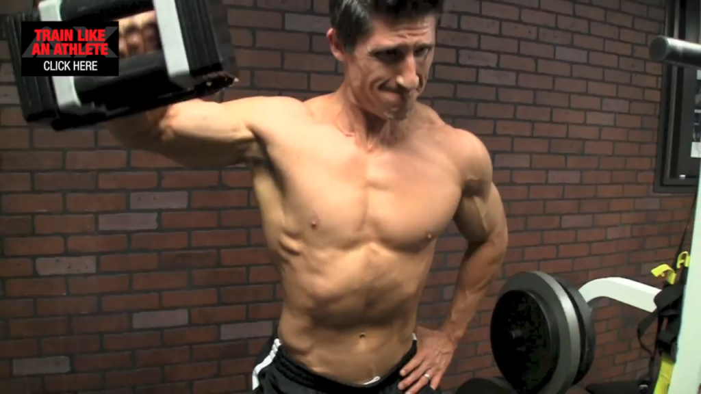 cheat laterals shoulder exercise
