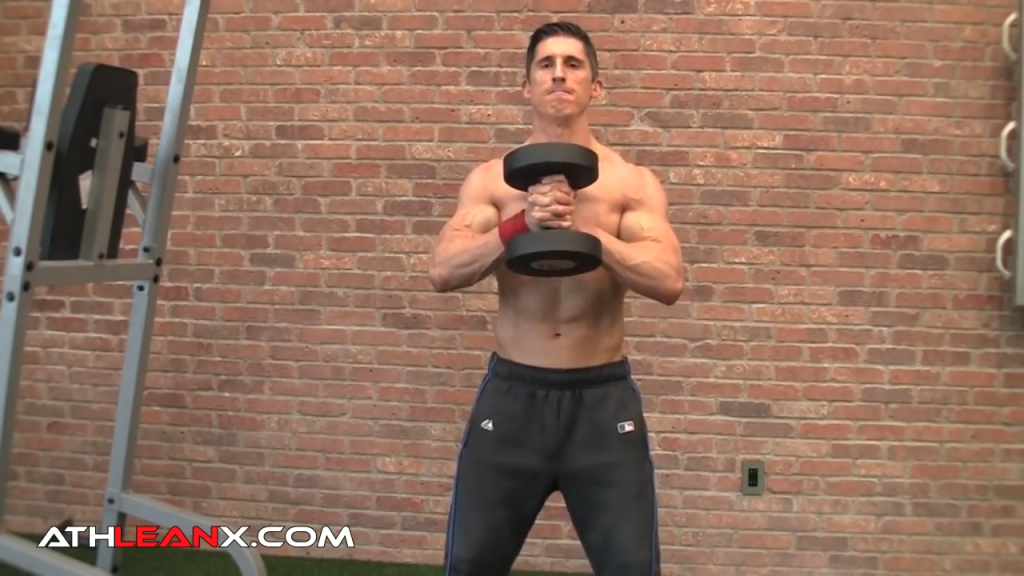 crush grip goblet squat exercise
