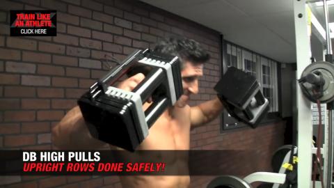 db high pulls shoulder exercise