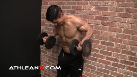 the drag curl portion of the moment arm technique for biceps growth