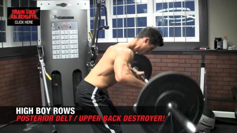 high boy rows shoulder exercises