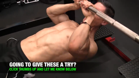 narrow grip inverted row to increase biceps width