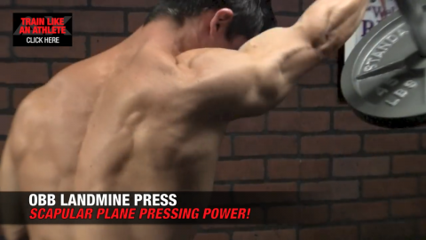 obb landmine press shoulder exercise
