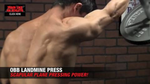 obb landmine press shoulders exercise