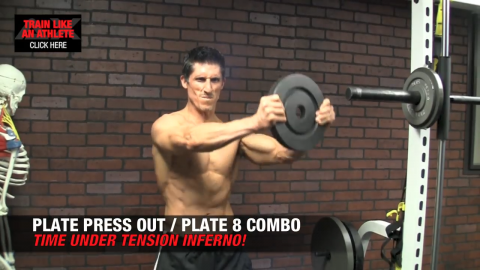 plate press out plate 8 combo shoulders exercise