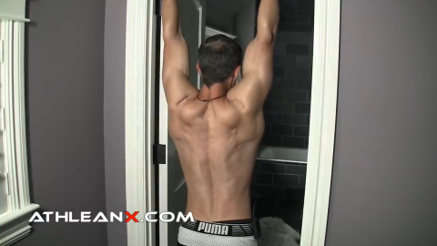 reach your head through on the decompression hang to reinforce the extension