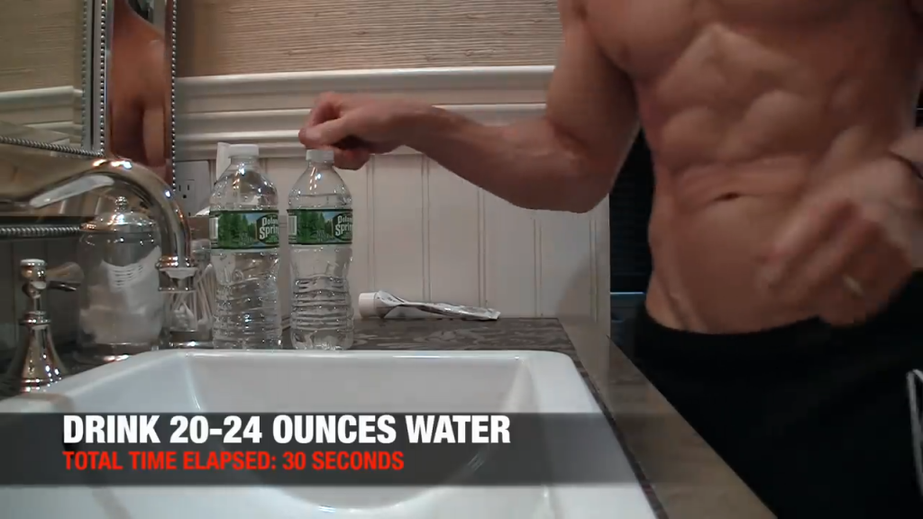 drink 20-24 ounces of water every morning as soon as you wake up for rehydration