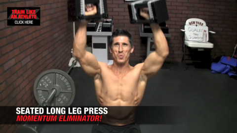 seated long leg press shoulders exercise