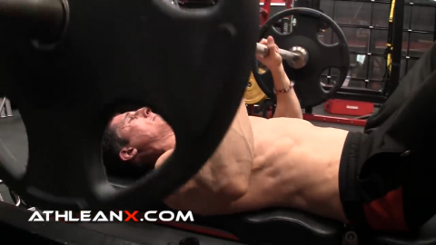 barbell close grip bench press exercise