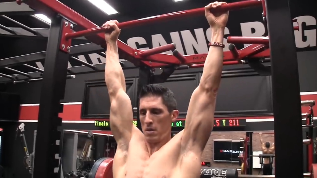 doing pullups with the elbows straight is a lot more difficult