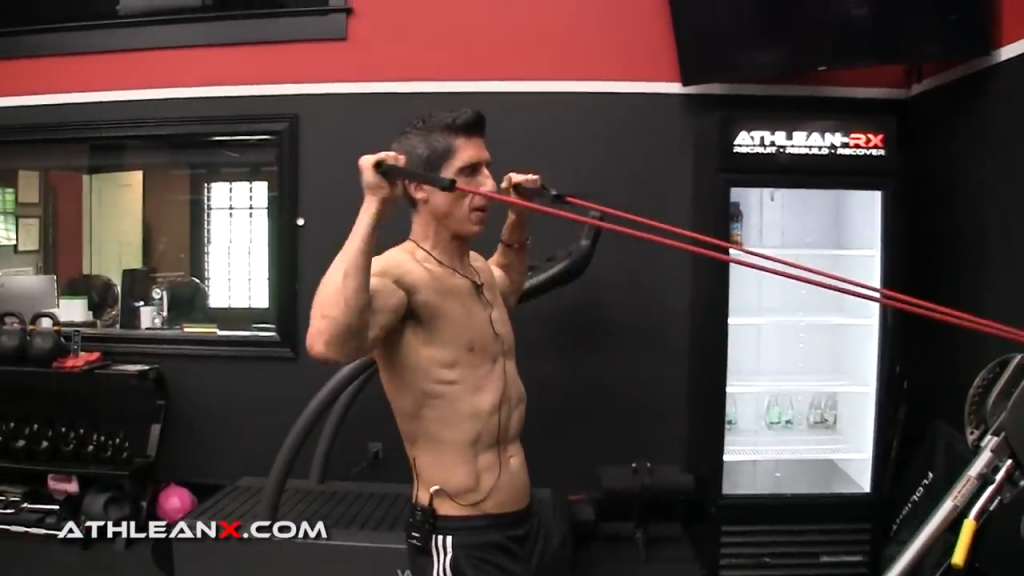 the strength curve of a face pull is different with a band