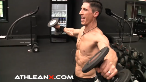 lower slowly in the side lateral raise