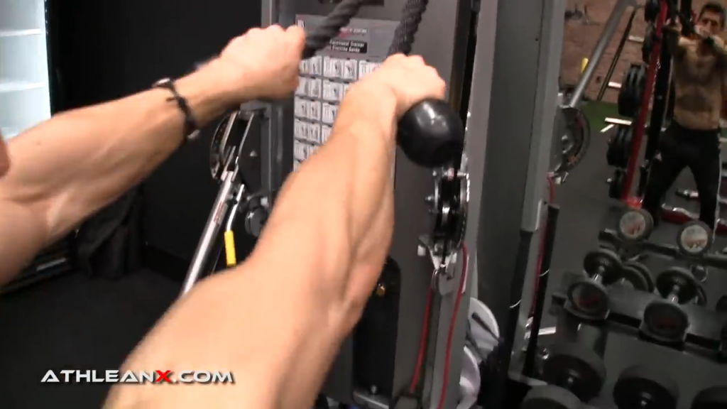 an overhand grip on the face pull is bad for the shoulders