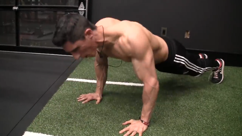 can you tell what mistake i'm making in the pushup?