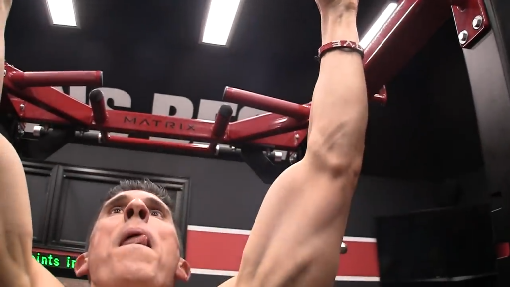 this slight bend in the elbows on the pushup makes them less effective