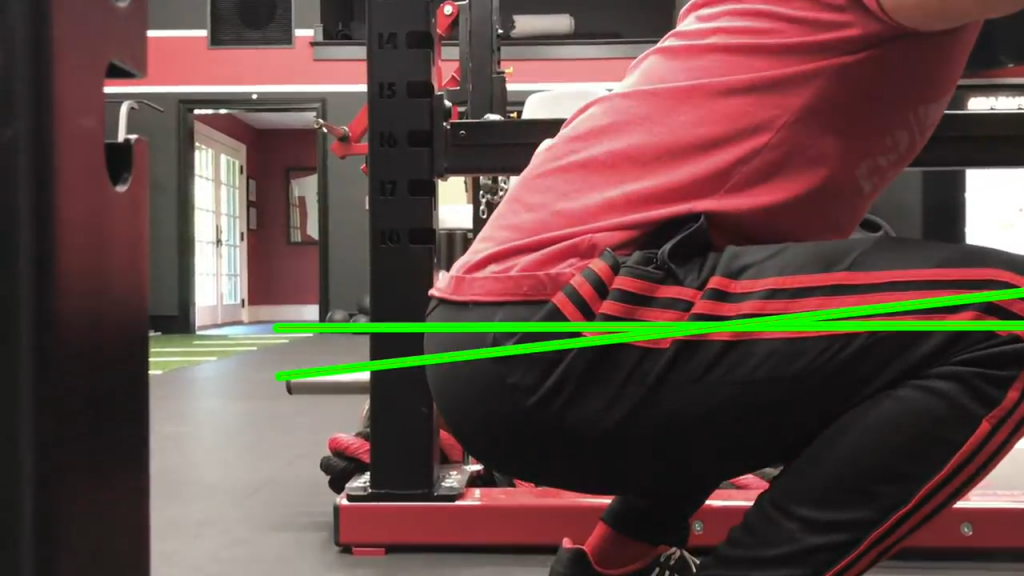 squatting at parallel is harder but more effective