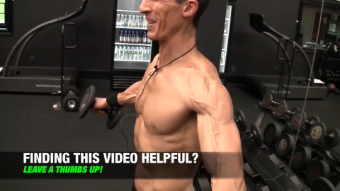 squeeze the shoulders in the side lateral raise
