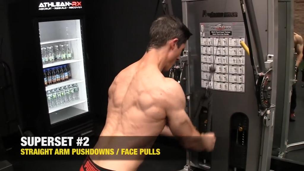 straight arm pushdown exercise