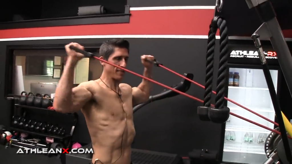 to get a more complete range of motion on the facepull with a band, choose a lighter band or stand closer
