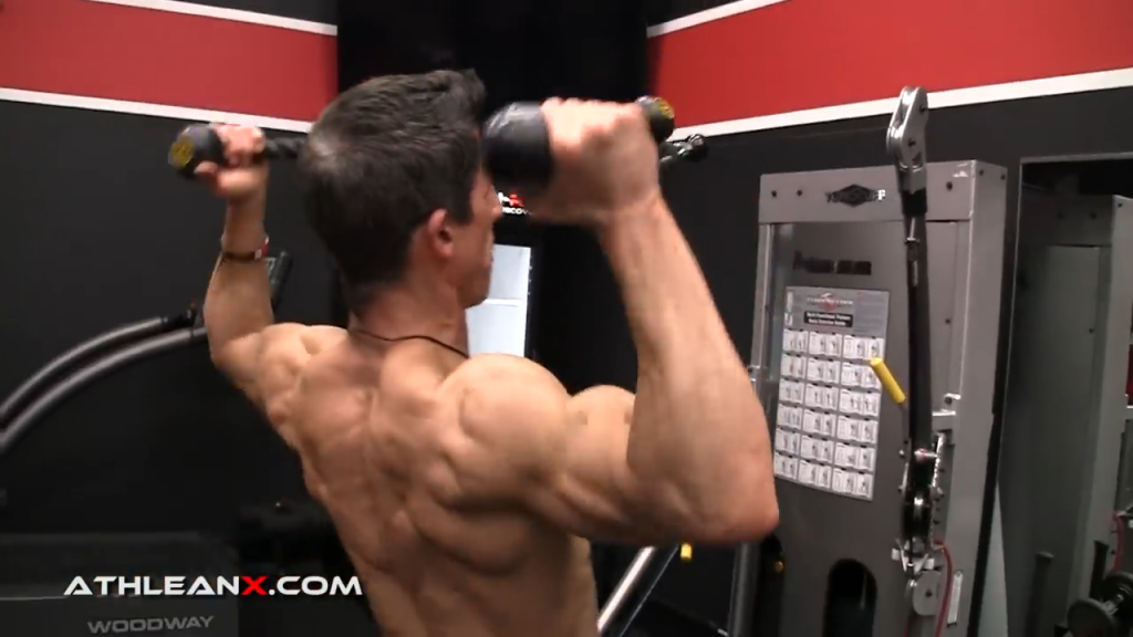 use a high anchor position in the face pull