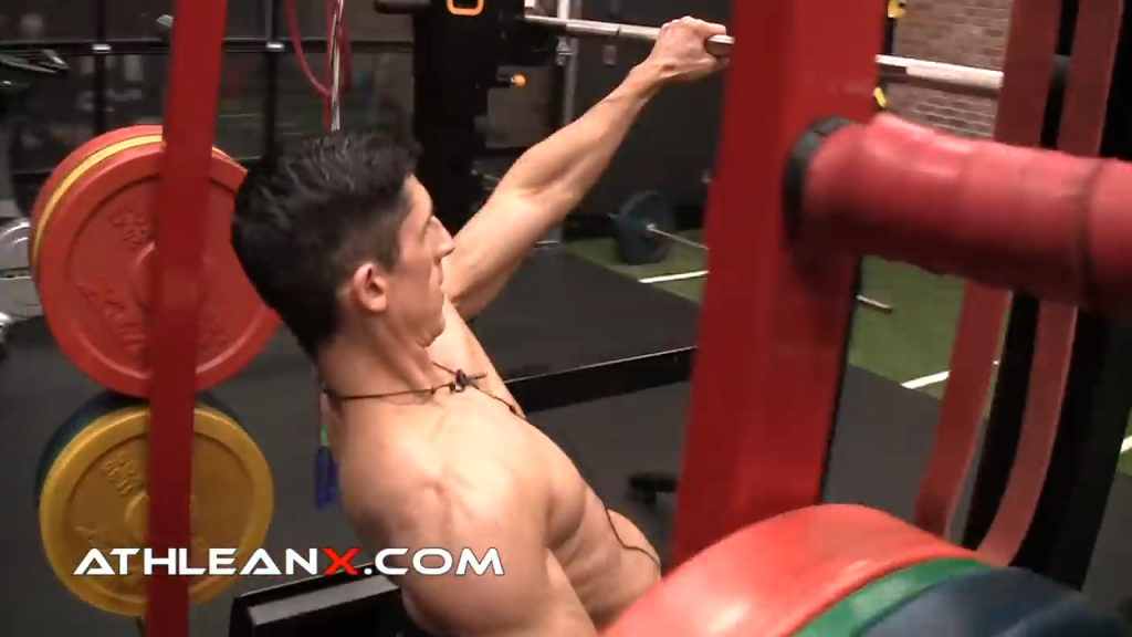 when you get stronger you can angle your body lower under the bar in the high incline row