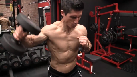 cheat lateral raise for shoulder hypertrophy