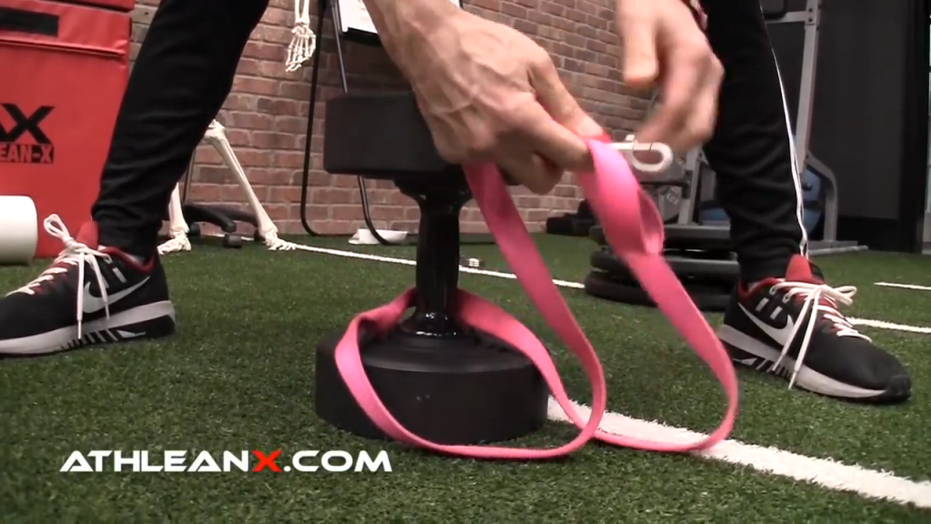 dog leash trick for dumbbell weighted dip